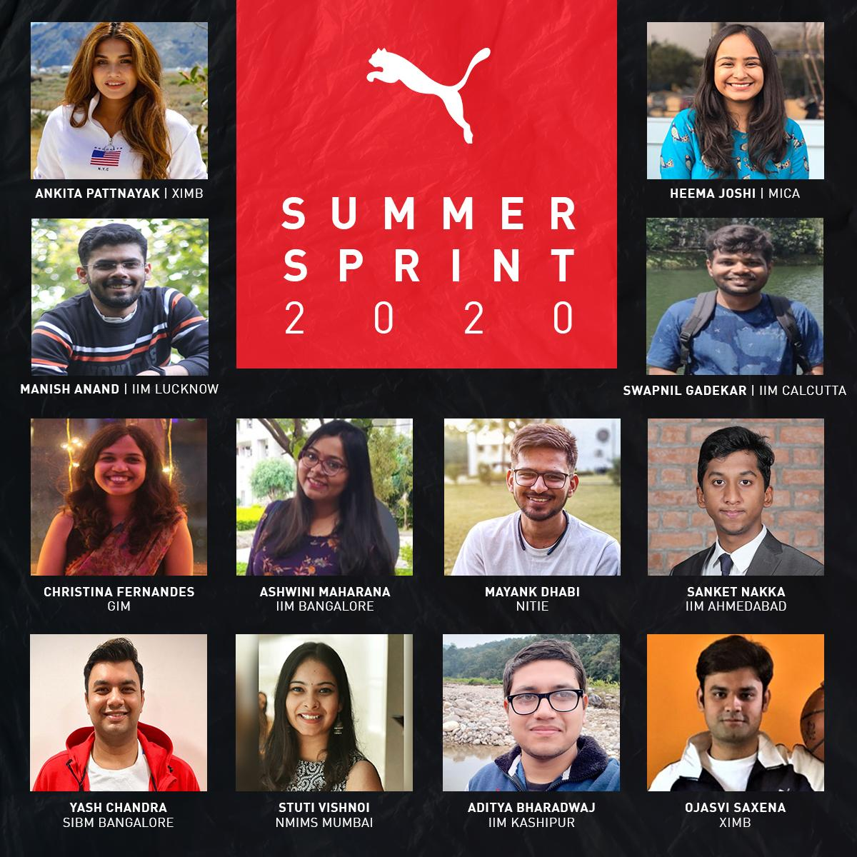 Puma Started 2020 Summer Virtual Internship Program